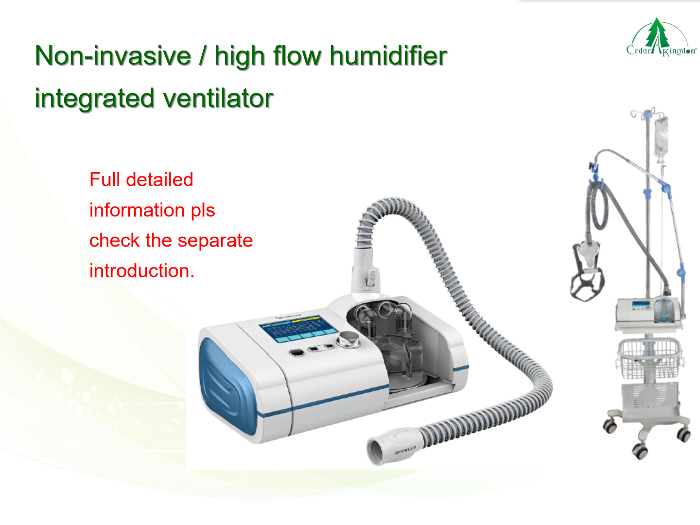 Non-invasive-high-flow-humidifier-integrated-ventilator